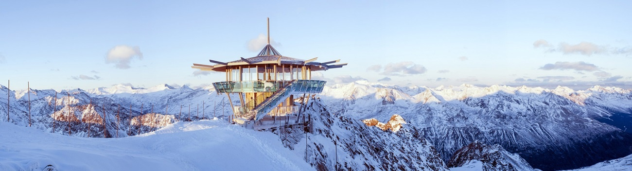 Top Mountain Star, Austria. Hot-dip galvanized steel structure.